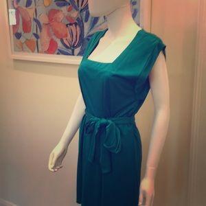 Jewel tone square mini dress